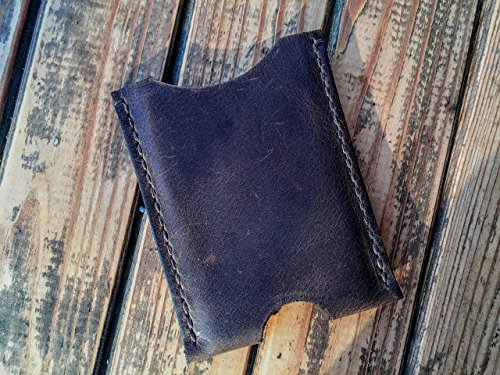 Credit Card Wallets For Men Front Pocket Pouch Slim Card Holder Case Handmade Brown (Stitched Pouch Pockets)
