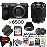 Sony Alpha a6500 Mirrorless Digital Camera (Body Only) International Version (No Warranty) + FE 28-70mm f/3.5-5.6 Lens Bundle