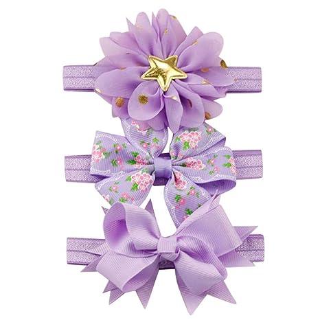 Kids Gift Floral Flowers Hairbands Headwear Ornament Bowknot Headband Elastic