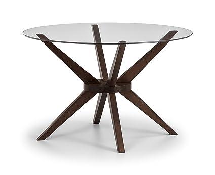 Julian Bowen Chelsea Round Glass 120CM Table 7f408d3ef5b3
