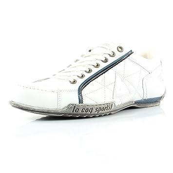 Low Herren Leder Sneakers Schuhe Sportif Le Leather Coq Cannet Weiss bfgIY7yv6
