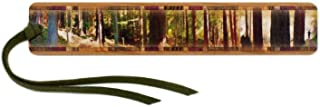product image for Mitercraft Panoramic Forest Hiker Colorful Wooden Bookmark with Suede Tassel Search B06ZYGZNQY for Personalized Version