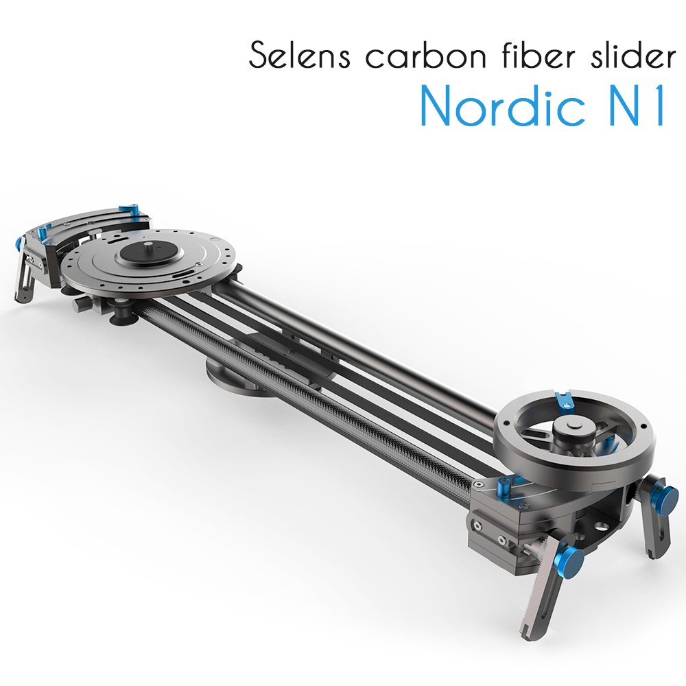 Selens Nordic N1 80cm Carbon Fiber Rail Camera Track Slider with Linear Bearing Sliding Platform & Adjustable Legs for Pro DSLR Video Camera by Selens