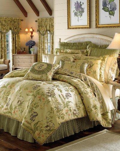 Bouquet Top Pillow (Croscill Iris Comforter Set, Queen, Multi)