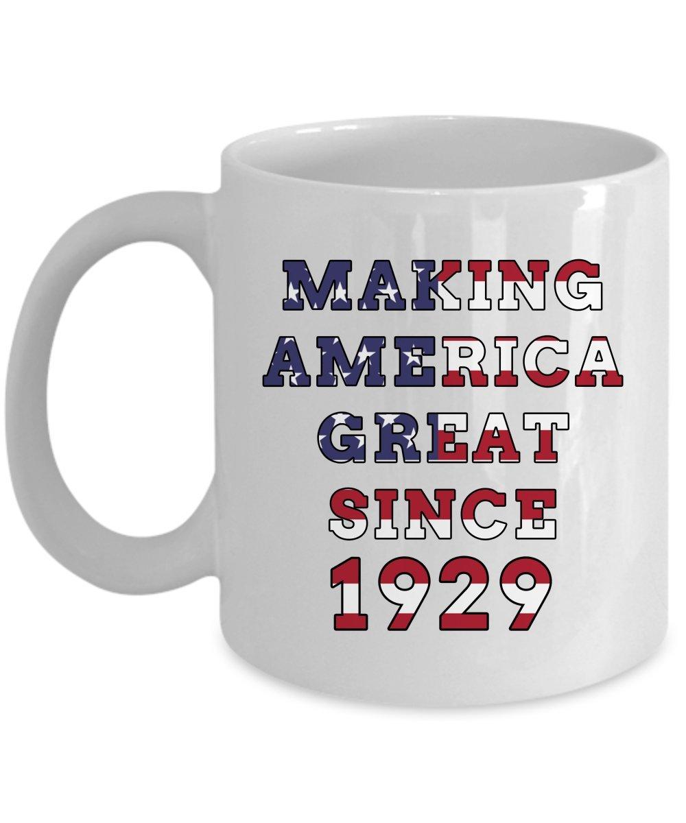 Amazon 1929 Birthday Mug Making America Great Happy 91th