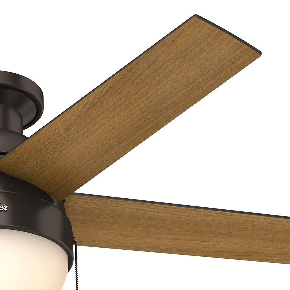 Hunter 46 Anslee Low Profile Premier Bronze Ceiling Fan with Light