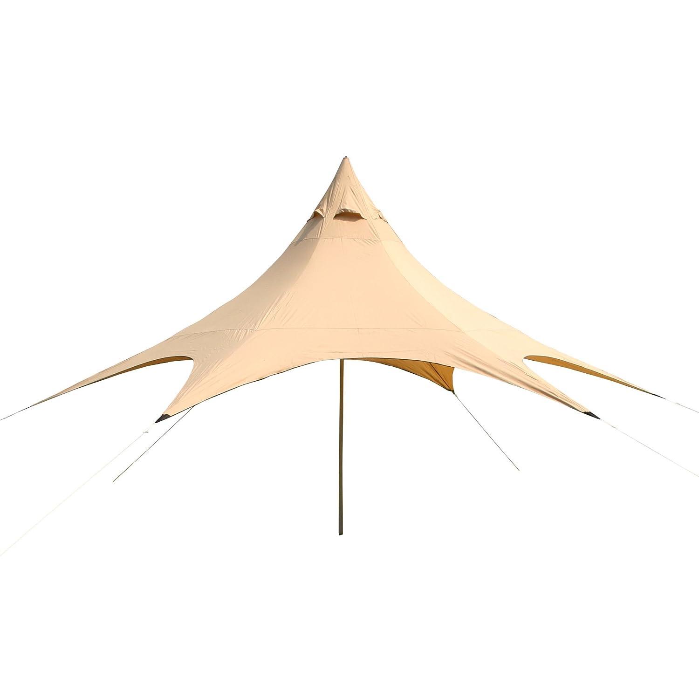 10T Captiva 6 - Schirm-Sonnendach 31m² Hexagon mit Aufstellstange wasserabweisend 90% UV-Schutz