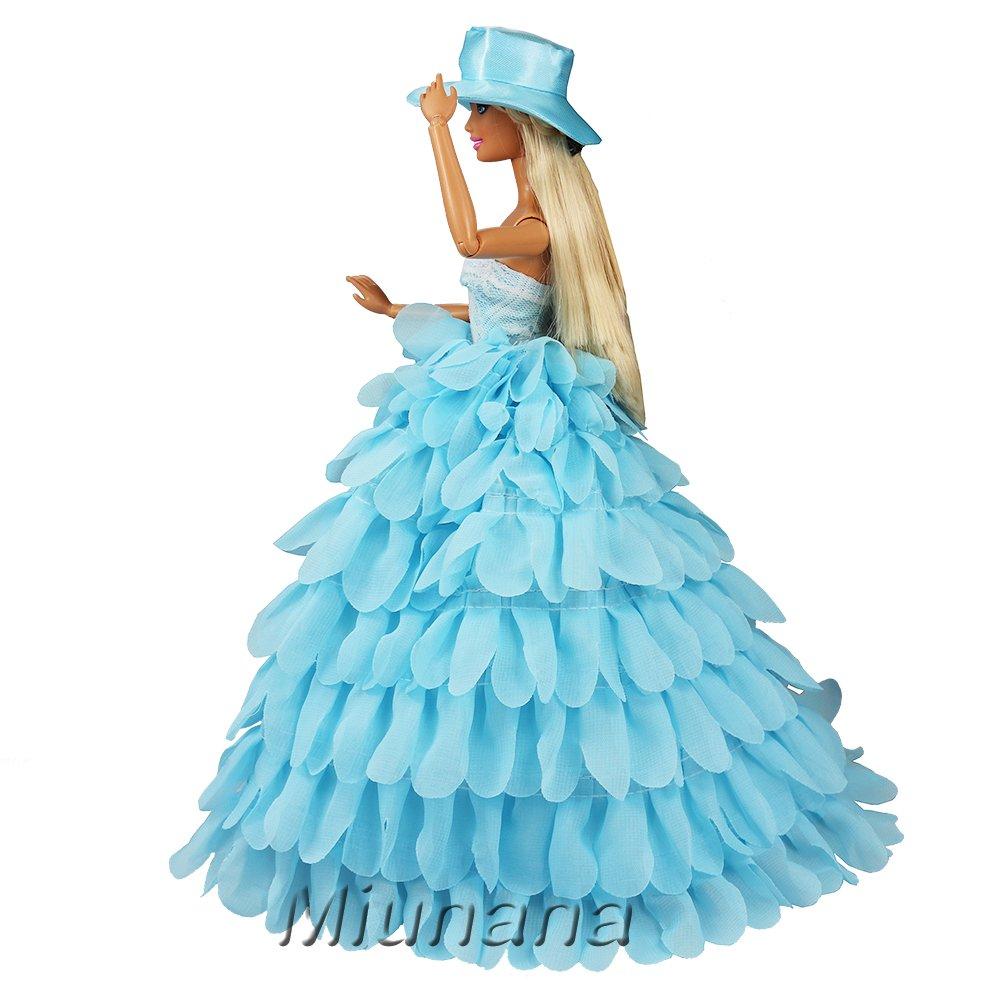 Amazon.es: Miunana 1 Vestido Princesa + 1 Sombrero Ropa Vestir ...