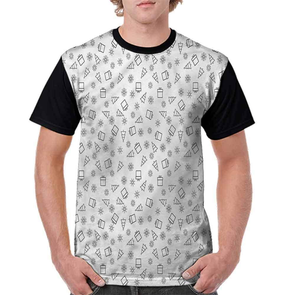 Loose T Shirt,Noel Theme Fir Tree Boxes Fashion Personality Customization