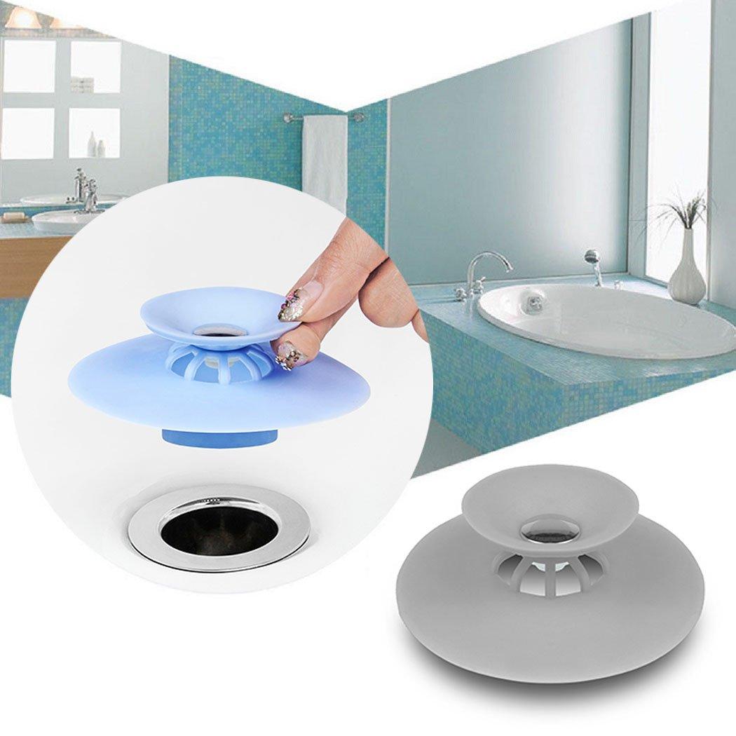 Amazon.com: BONNA 2 Pack Drain Stopper Hair Catcher Bathtub Cover ...