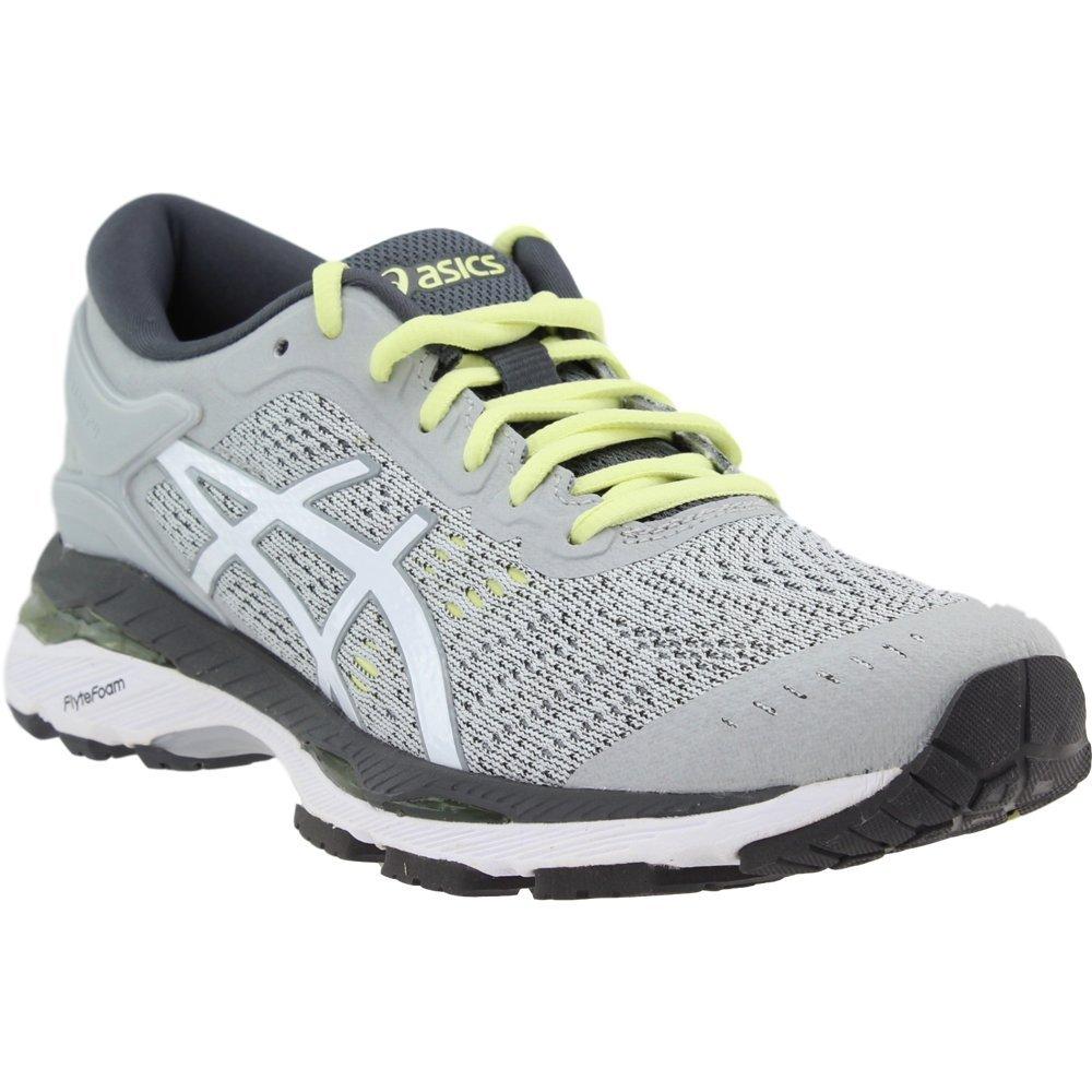 Asics Womens Gel-Kayano 24 Glacier Grey/White/Carbon Running Shoe - 9.5 by ASICS