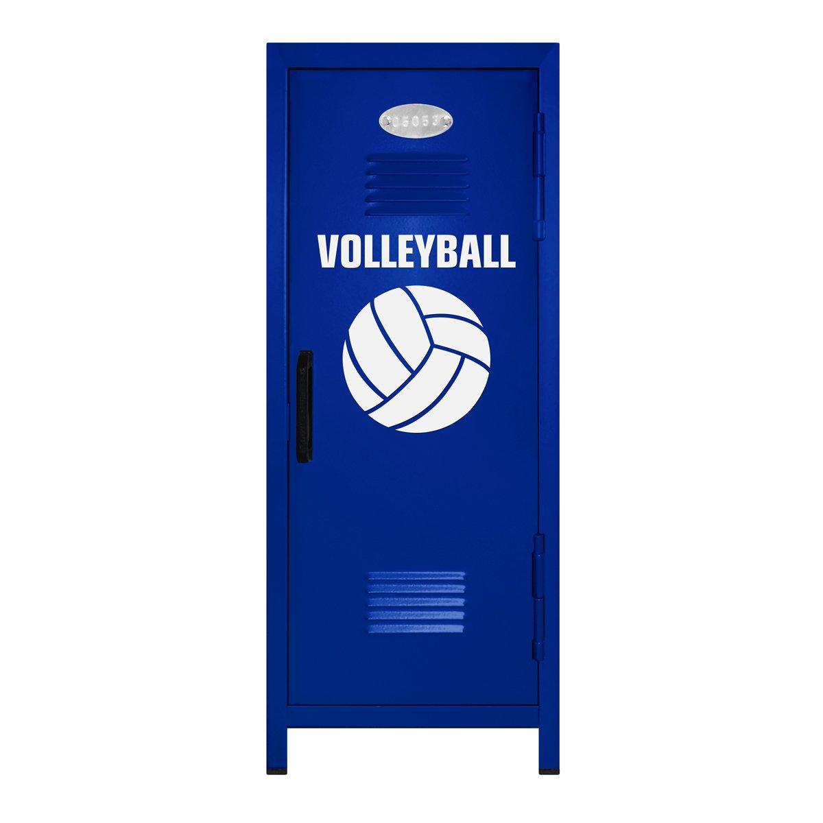 Volleyball Player Miniロッカーギフト  ブルー/ホワイト B00OM7LXMG