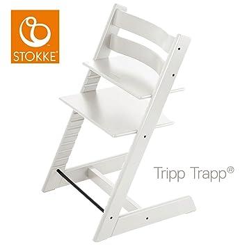 Stokke Chaise Haute Bebe Tripp Trapp Blanche Amazon Fr Bebes
