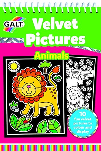 Galt Toys,  Velvet Pictures - Animals, Activity Book