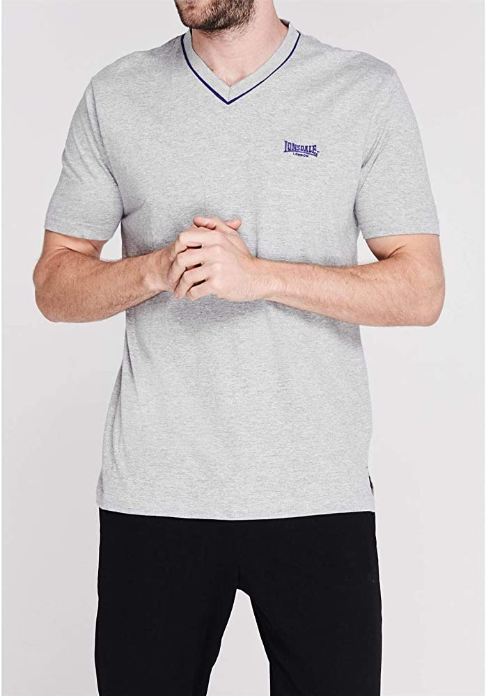 Lonsdale - Camiseta de Manga Corta para Hombre, Cuello en V ...