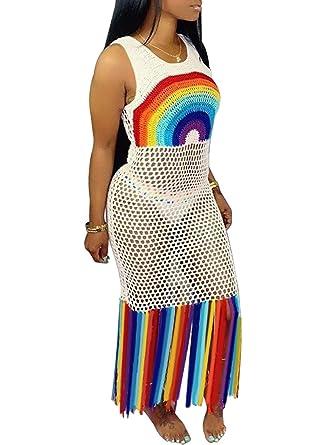 Just For Future - Vestido de Verano para Mujer, con Borla Sexy ...