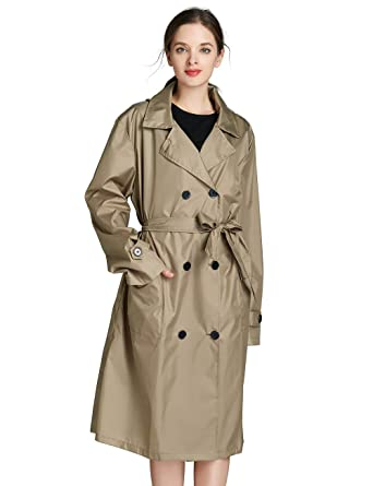 novel design super cute outlet on sale Amazon.com: Women's Rain Trench Coat Long Lightweight ...