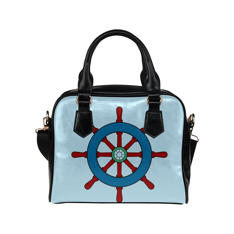 meincare Women's Steering Wheel Ship PU leather Aslant Shoulder Tote Handbags