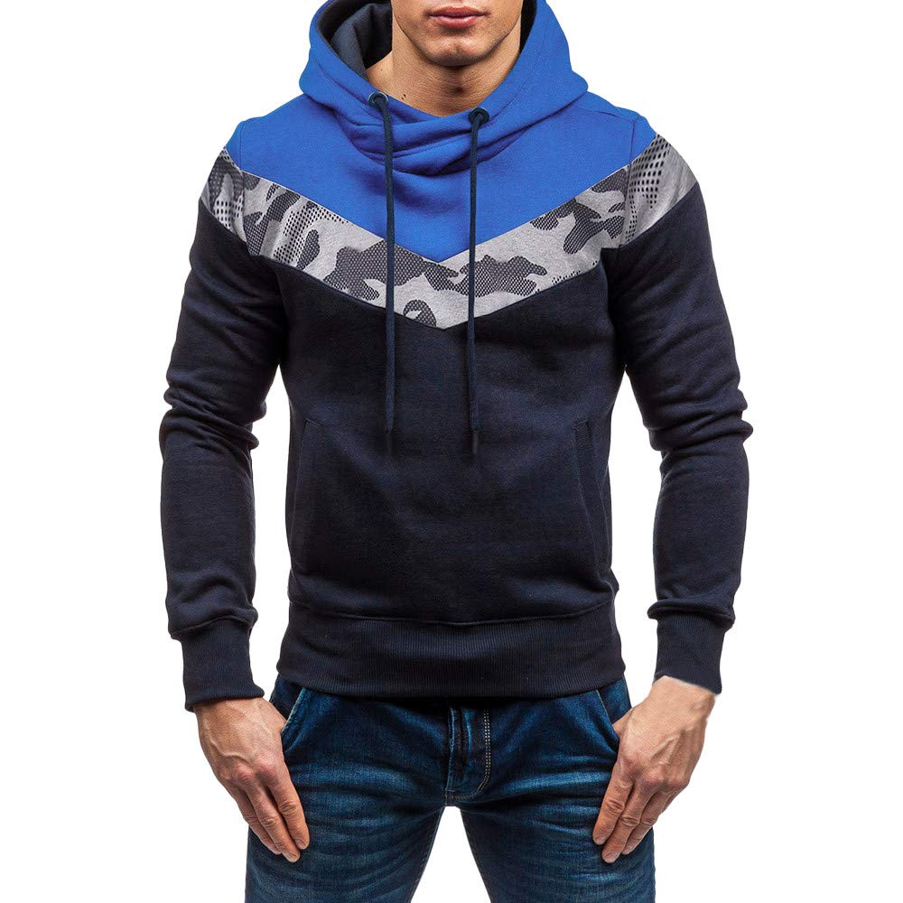 Sport Tracksuit, Men\'s Camouflage Hoodie Hooded Sweatshirt Tee Outwear for Teen Boys