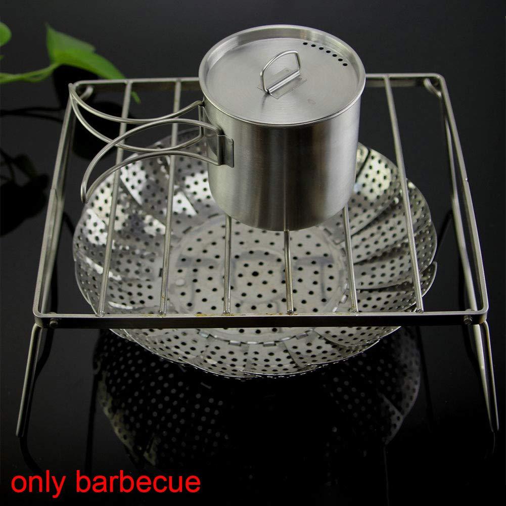 Wie abgebildet S ZAK168 Edelstahl Faltbarer Brenner Herd St/änder Klappbar Grill Ofen Rack f/ür Outdoor Camping Wandern Picknick Kochen Werkzeuge