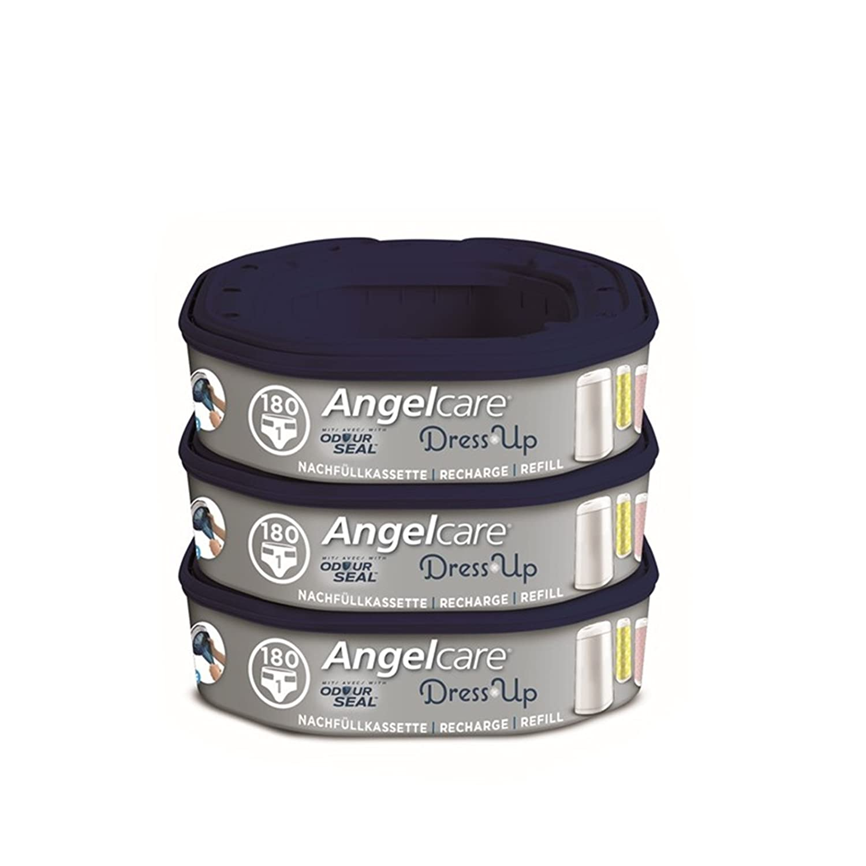 Angel Care cassettes de recharge pour poubelle à couches Dress Up Lot de 3 Angelcare