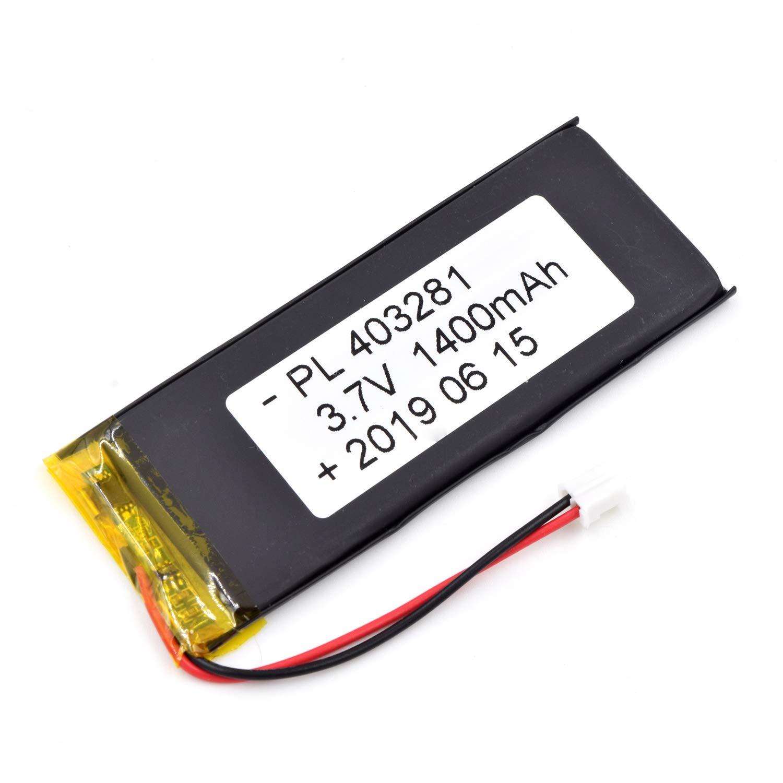 Bateria Lipo 3.7V 1400mAh 403281 Recargable JST Conector