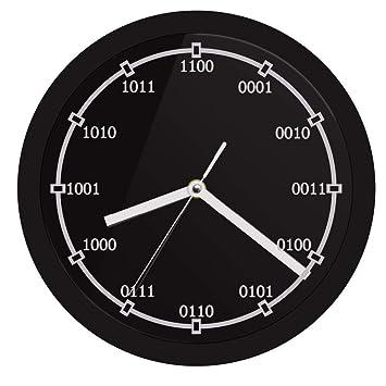 Pmrioe Código Binario Reloj De Pared Decorativo con Retroiluminación por Led Ecuación Digital Led Cartel De Neón Reloj De Pared Maestro De Regalo: ...