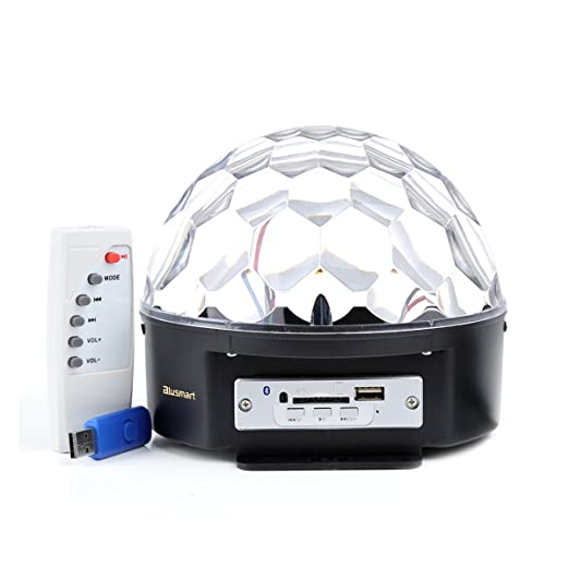 42 opinioni per Luci da palco, Bluetooth Cristallo palla lampada magica LED RGB effetti