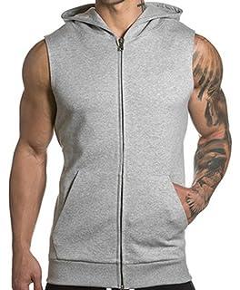 Sudadera con Capucha Casual para Hombre Camisetas sin Mangas Chaleco con Capucha sin Mangas, Camiseta