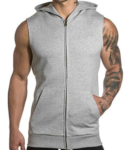 Maglietta senza maniche con cappuccio da uomo dfe8d363a76a
