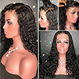 Lace Front Wigs with Bleached Knots Brazilian Virgin Human Hair Wigs Glueless Wigs for Black Women Full Lace Wigs with Baby Hair (24 inch Lace Front Wig, 180% Density)
