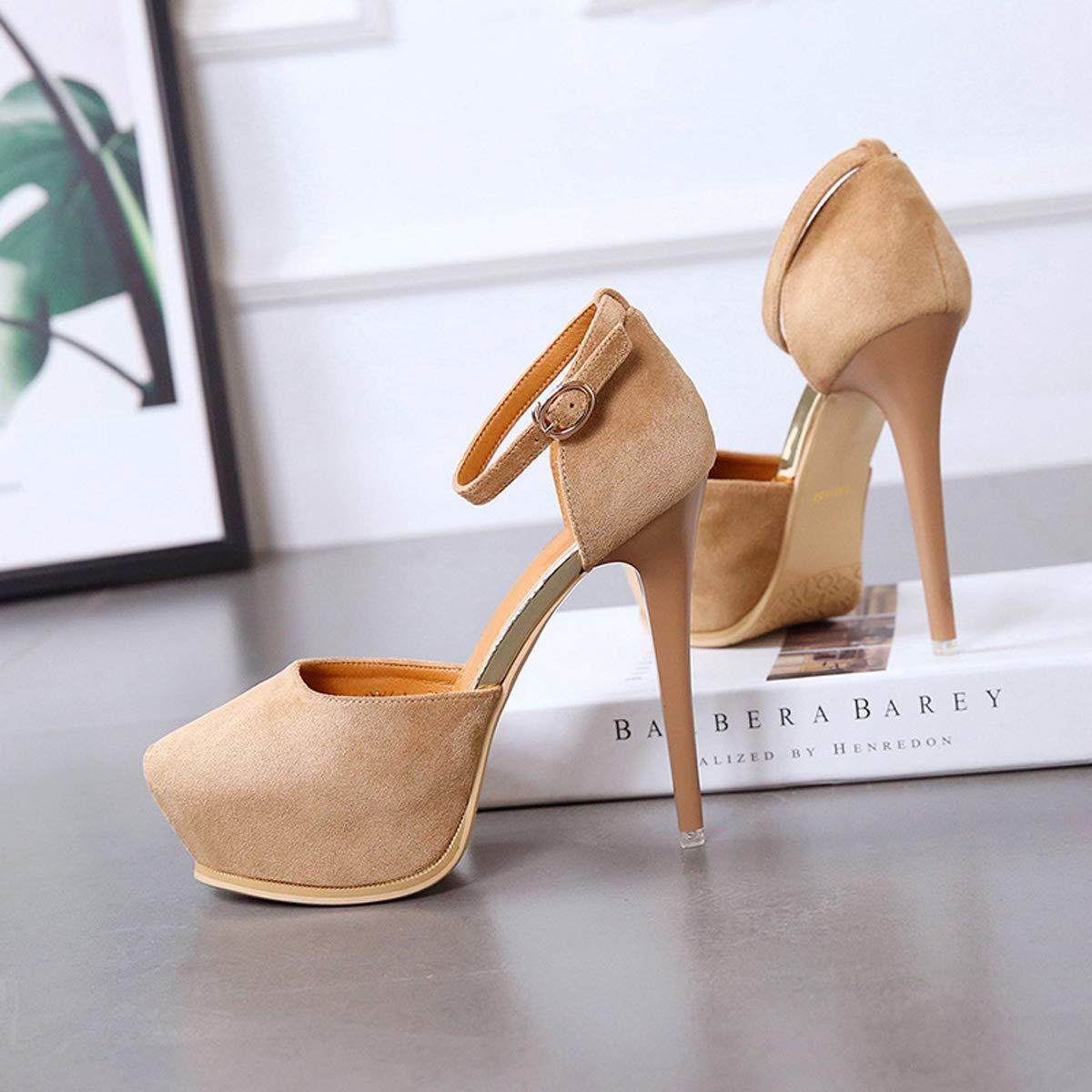 DANDANJIE Damen High Heel Schuhe mit Knöchelriemen Plateau Stiletto Sexy Sexy Sexy Schuhe für Frühling 2019 ff2093