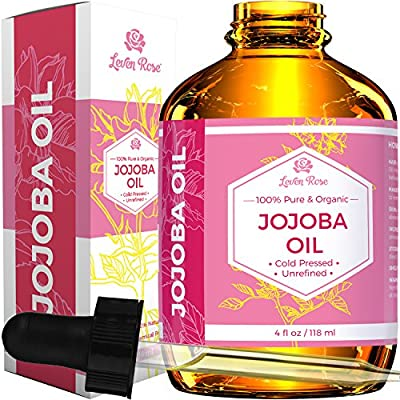 Cheapest Jojoba Oil by Leven Rose - Leven Rose Jojoba Oil - 100% Organic Pure Cold Pressed Unrefined Natural - 4 oz - for Hair, Skin & Nails from Leven Rose - Free Shipping Available