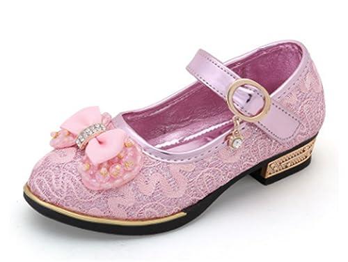 dcdf62791 YOGLY Zapatos para Niñas Princesa Zapatos Tacones Baile Zapatos de Niña  Flor  Amazon.es  Zapatos y complementos