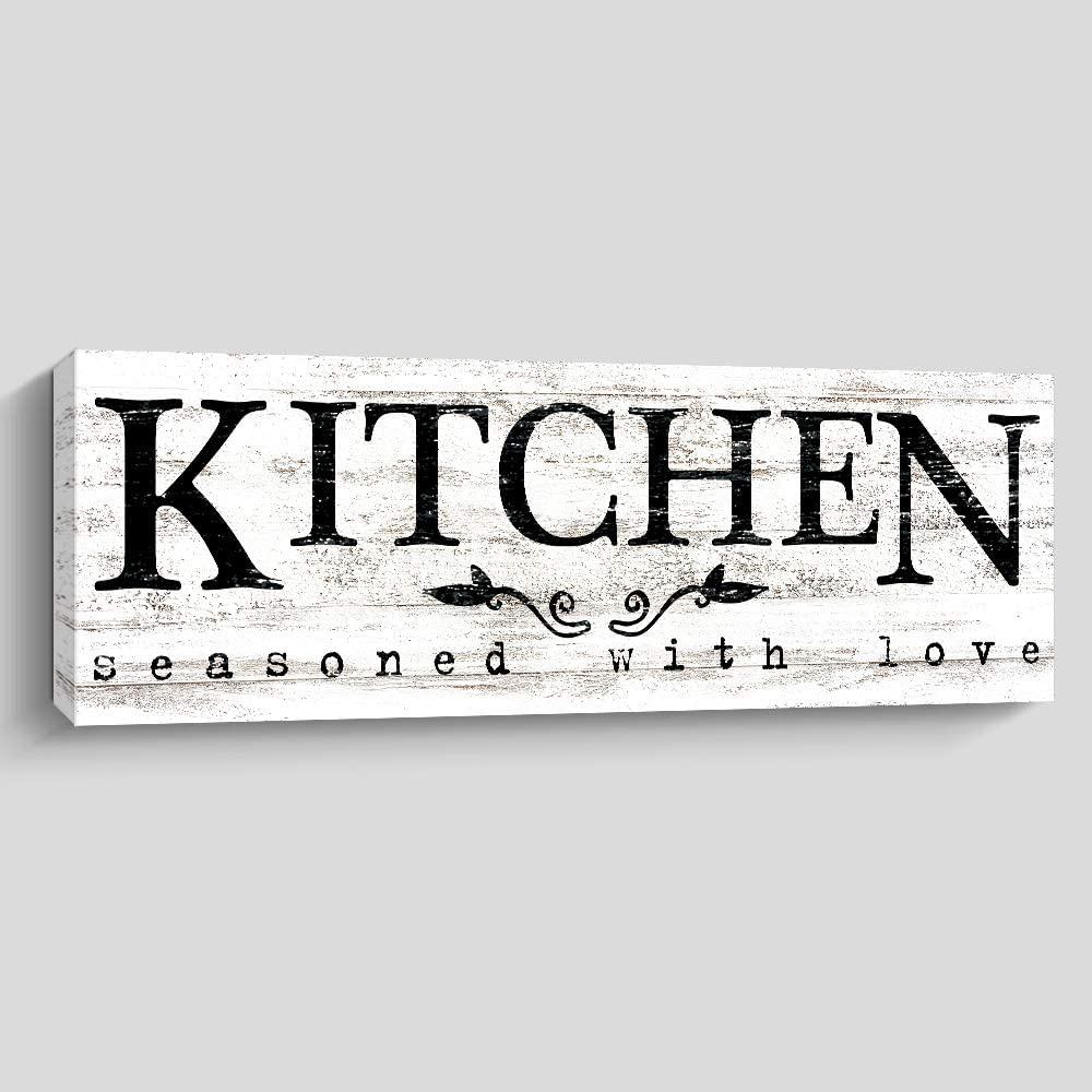 Amazon Com Rustic Kitchen Wall Decor Farmhouse Wall Art Kitchen Sign Home Decorations Kitchen Posters Prints