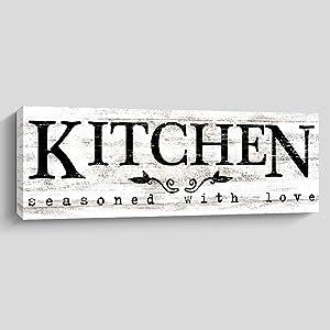 Rustic Kitchen Wall Decor, Farmhouse Wall Art, Kitchen Sign Home Decorations (Kitchen)