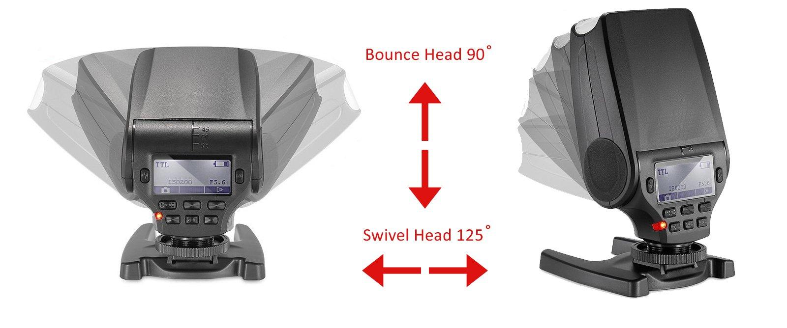 Fujifilm FinePix HS50EXR Bounce, Swivel Head Compact Flash (TTL) + Nw Direct Micro Fiber Cleaning Cloth by Vivitar/Digital (Image #2)