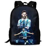 綺羅XS001 スタイリッシュリュック Lionel Messi メッシ FC 学生用かばん 多机能 観光バッグ 容量 かんぜんぼうすい 運動 デーパック Black