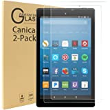 """Kindle Fire Screen Protector,Kindle Fire HD 8 Tempered Glass Screen Protector,Canica Kindle Fire HD 8"""" (2016) Film Screen Protector (2 Pack)"""