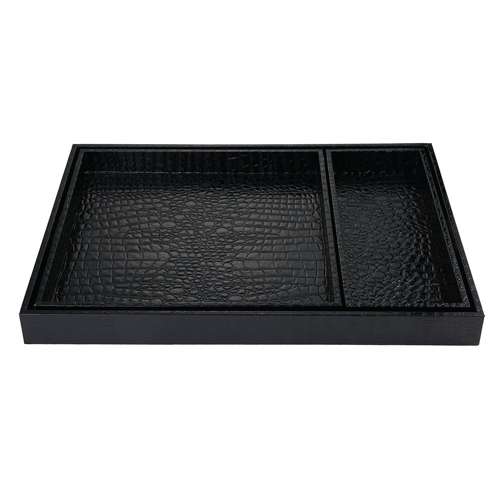 Cc Wonderland Serving Tray With Handles Alligator Faux