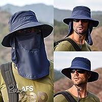 Sombrero de Sol de ala Ancha Unisex, BONKEEY Sombrero de Pesca, Quemaduras Solares y Protección UV – Gorra de Boonía Ligera – Sombrero de Cubeta para Pesca, Senderismo, Camping, Playa y Safari