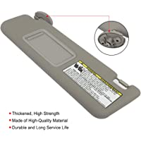 Dasbecan Left Driver Side Sun Visor for Toyota Tacoma 2005-2012 74320-04181-B1 Gray