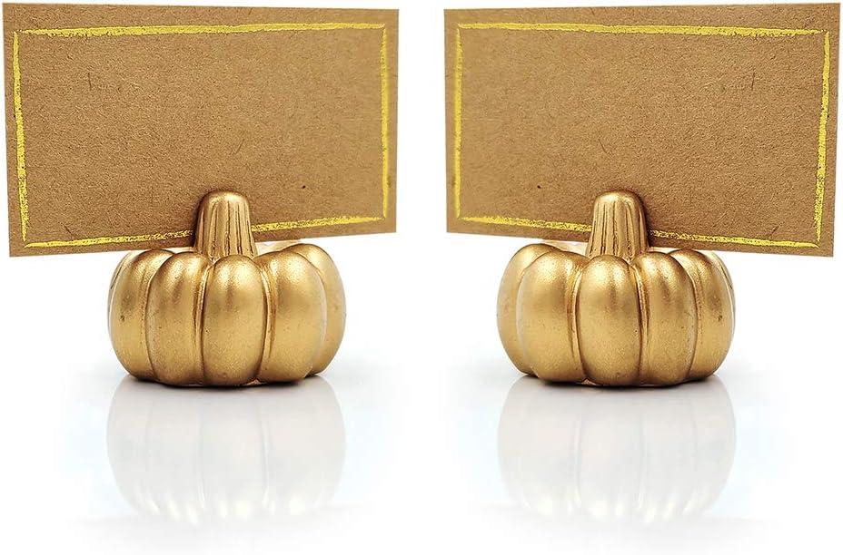 Kate Aspen Pumpkin Place Card Holder, Set of 6, Gold