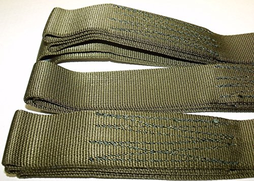 2 Piece Set 5′ Offroad Tow Cargo Recovery Straps – ATV Tree Saver – Looped Ends Heavy Duty Sling 9000 lb Military Issue Nylon Webbing USA – TyCa Industries