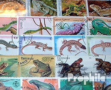 Prophila Collection Motivos 200 Diferentes Reptiles Sellos (Sellos para los coleccionistas) Anfibios / Reptiles / Dinosaurio: Amazon.es: Juguetes y juegos