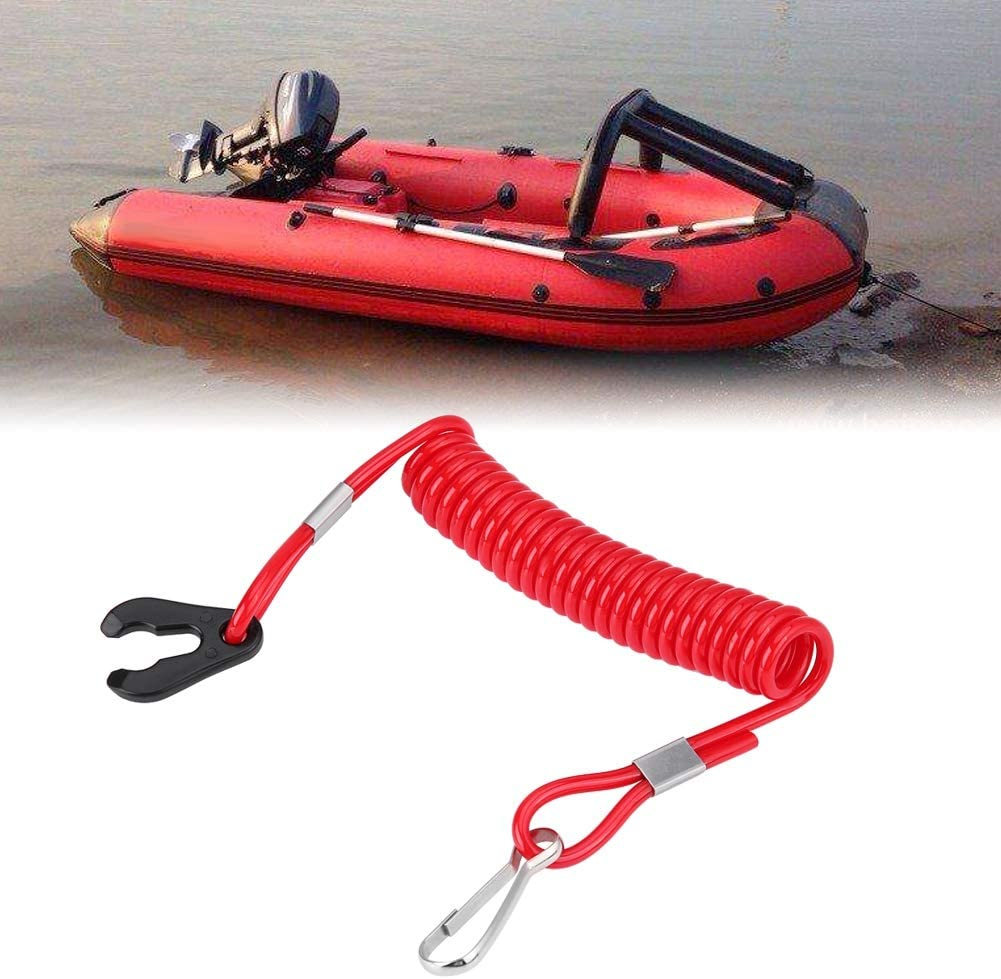 Safety Boat Motor Outboard Engine Ignition Emergency Kill Stop Switch Key Lanyard Rope Clip for Yamaha All Series Lanyard Rope Clip Hook