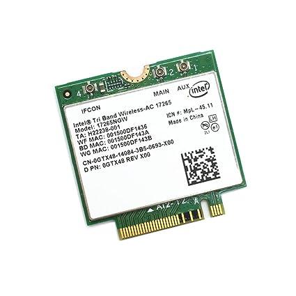 Generic Intel Tri Band Wireless-AC 17265 17265NGW WiGig 867M Wireless WLAN  Card BT 4