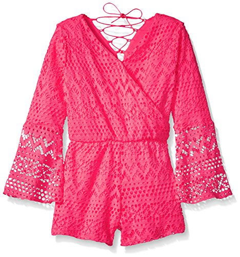 kensie Girls' Little Romper (More Styles Available), 2877 Neon Pink, 4 from kensie