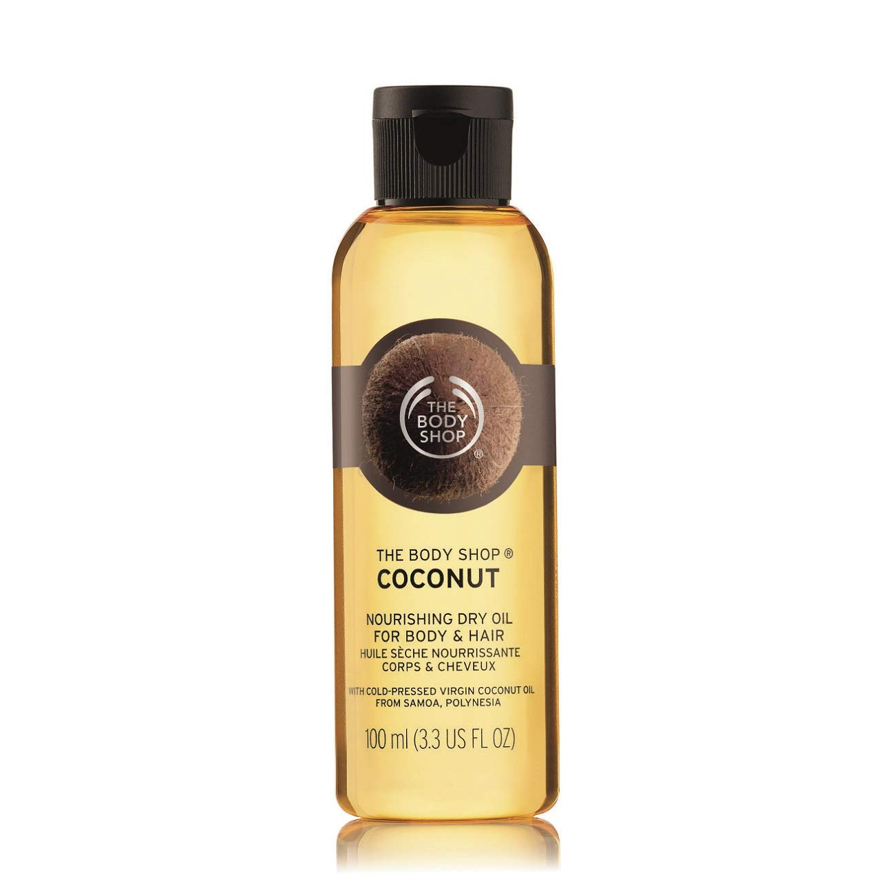 The Body Shop Coconut Nourishing Dry Oil for Body & Hair, 3.3 Fl. Oz.