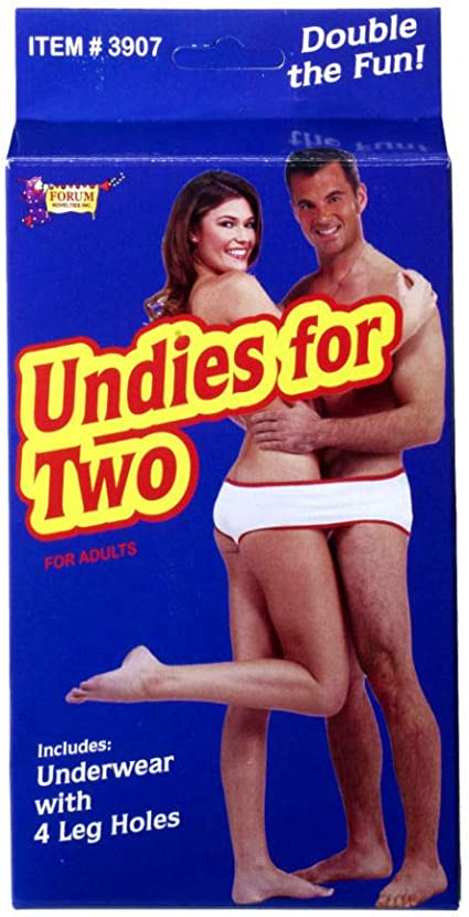Naughty or Nice  Fundies Undies For Two Adults Women Men Xmas Gag Gift Underwear